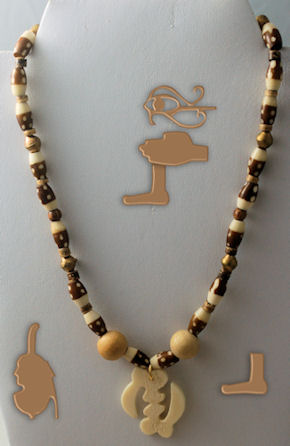17 1/2 inch Danso African Necklace for men